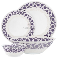 Сервиз Endura Damask Purple Дамаск Пурпл- 50 предм. на 12 персон